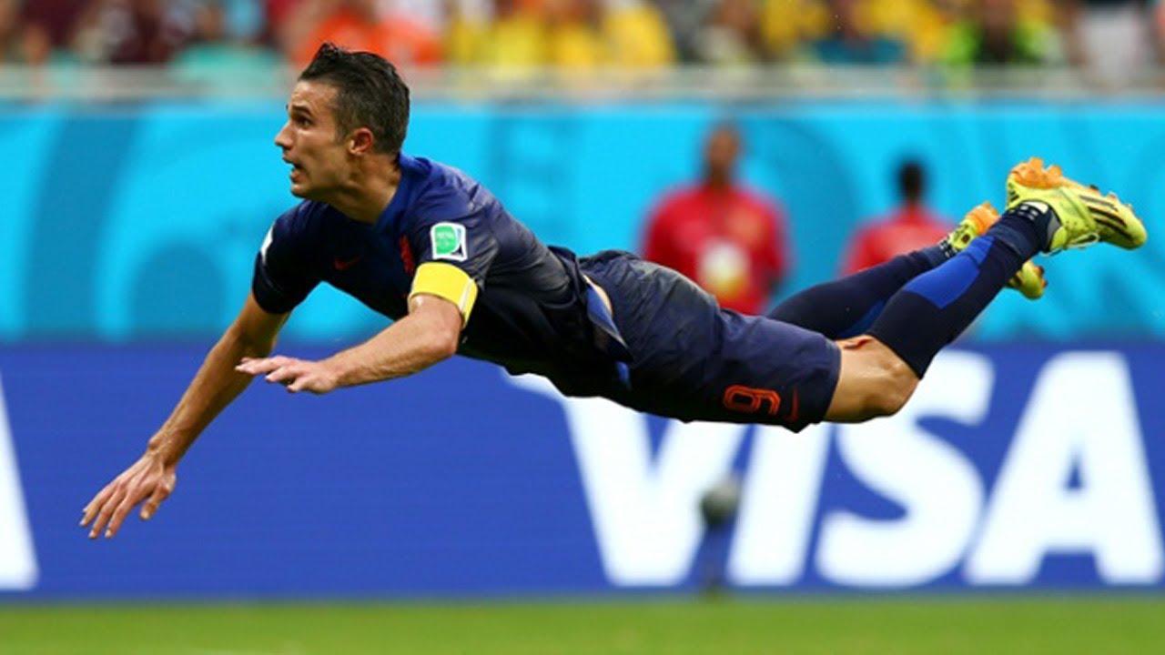 robin van persie flying head goal most amazing goal ever