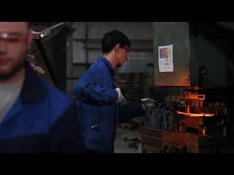 Производство лопат из рельсовой стали бывшей. Покровский завод инструментов