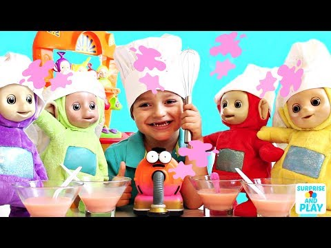 Tinky Winky is a Bad Cook Making Tubby Custard Teletubbies Kitchen