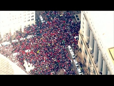 Chicago teachers stage strike over lack of funding