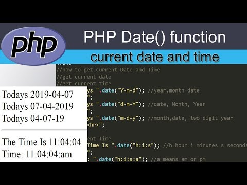 Current Date Time In Php | How To Get Date In Php | How To Get Current Time In Php | Php Tutorial