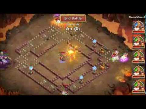 Castle Clash Mesa 4 ALL PLAYERS HAVE PIXIE Scatter On Boss PLUS DEBUFF STUN