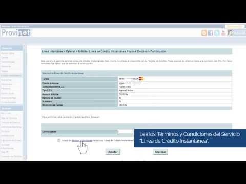 Solicita ¡YA! tu Línea de Credito Instantáneo por Provinet de YouTube · Duración:  3 minutos 20 segundos