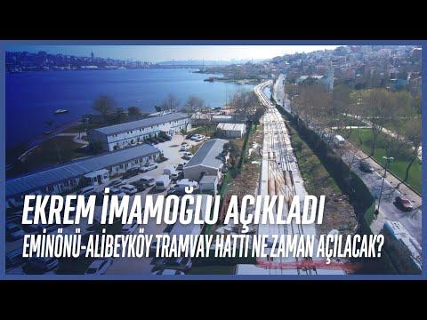 İBB Başkanı Ekrem İmamoğlu Eminönü-Alibeyköy Tramvay Hattı İçin Tarih Verdi