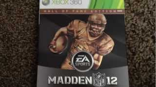 Madden NFL 12  Hall of Fame Edition Unboxing (Xbox 360)
