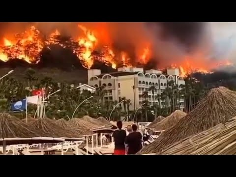 This is a real apocalypse!! Turkey is on fire! HUGE Wildfire Burns in Marmaris - Manavgat, TURKEY