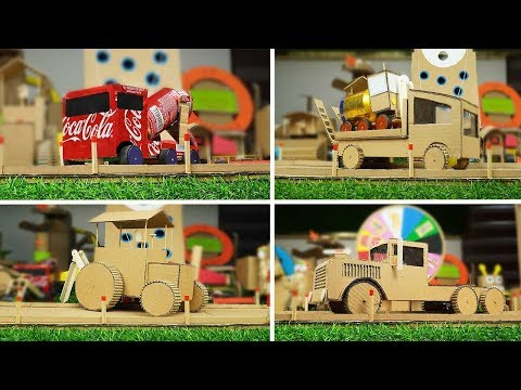 4-awesome-life-hacks-diy---how-to-make-car-truck-from-cardboard
