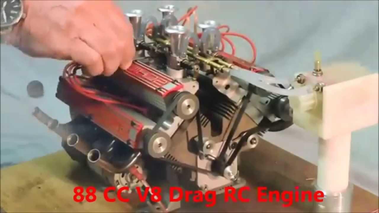 88cc V8 Engine Drag Rc Car Luxury Cars Youtube