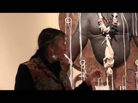 Roxanne Swentzell, winner of the Living Treasure award