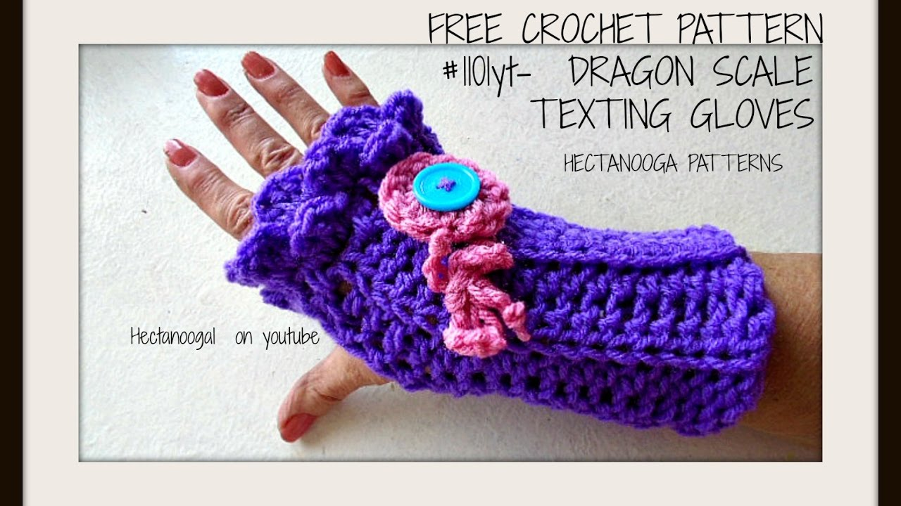 Free crochet pattern dragon scale texting gloves fingerless free crochet pattern dragon scale texting gloves fingerless gloves crocodile stitch mermaid youtube bankloansurffo Image collections