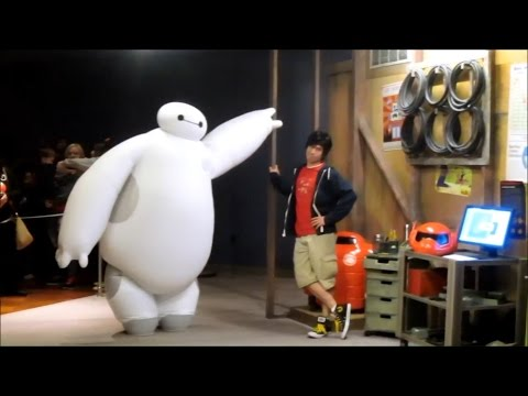 Hiro and Baymax at Disneyland