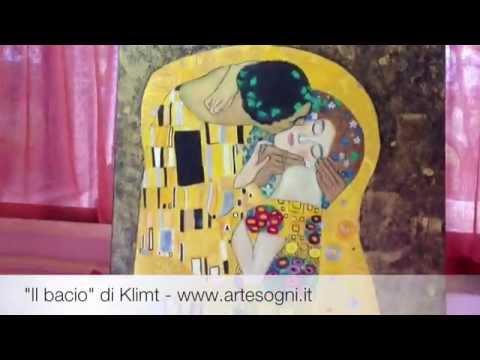 Quadro Il Bacio Di Klimt Riproduzione Oilo Su Tela Www Artesogni It Youtube