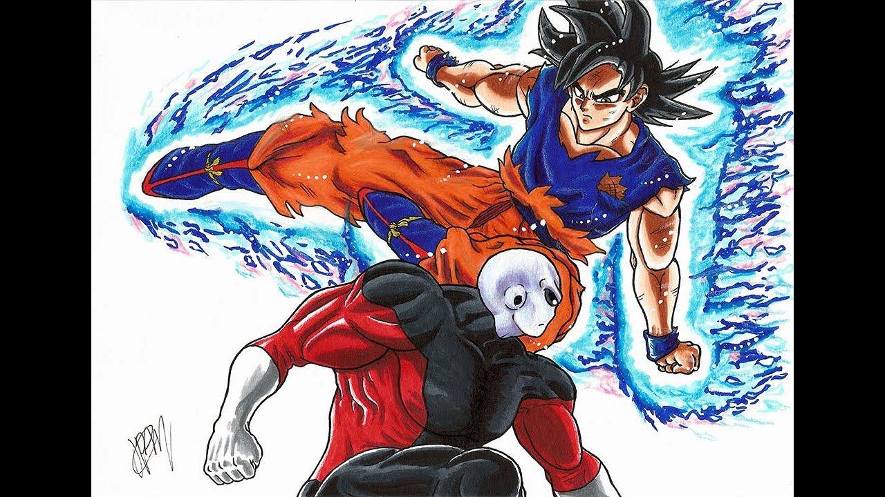 Como Desenhar O Goku Instinto Superior Desenho Do Goku Vs Jiren Dragon Ball Super