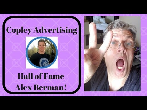 Copley Advertising Hall of Fame - Alex Berman!