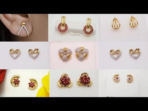 Latest Cute Ear-Studs ||Tops || Designs In Gold & Diamond