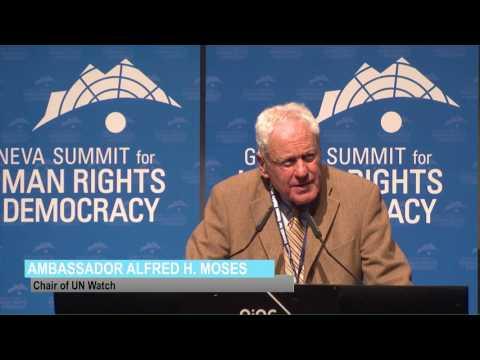 Ambassador Alfred H Moses at Geneva Summit 2017