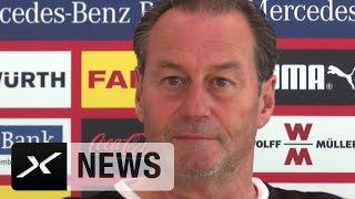 Huub Stevens scherzt: Alexander Zorniger? Warum nicht Jürgen Klopp? | FC Augsburg - VfB Stuttgart