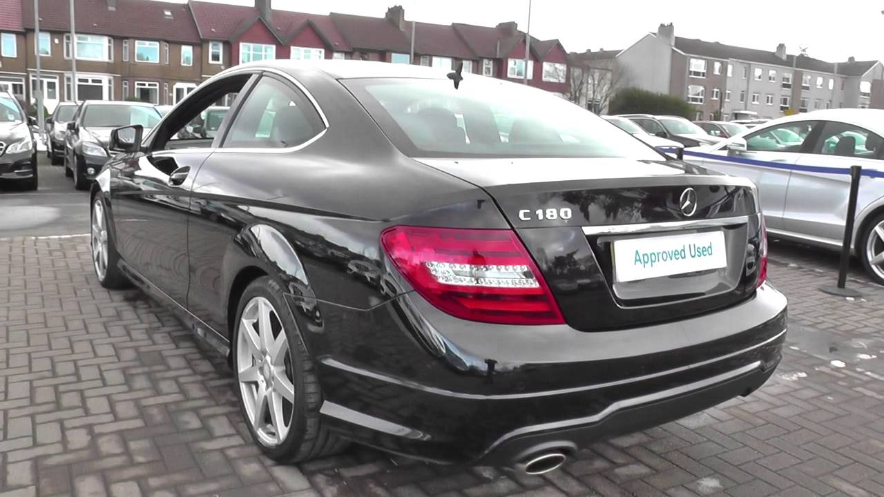 mercedes-benz c-class coupe c180 amg sport u40104 - youtube