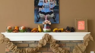 Diy Decorating Your Mantel For Fall