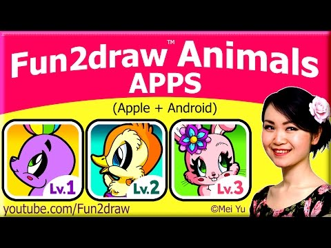 Great for Holidays ❤ Fun2draw Animals Apps for Apple + Android + FREE Gift Drawing