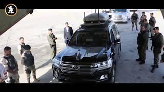 قوة حماية خاصة ترافق المشير خليفة حفتر أثناء زيارته لتونس (فيديو)   المصري اليوم