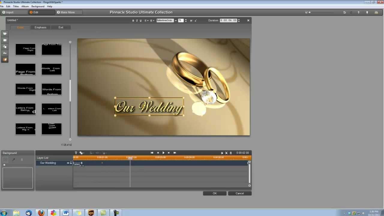 Pinnacle studio 15 tutorial how to make a wedding video title with pinnacle studio 15 tutorial how to make a wedding video title with sparks maxwellsz