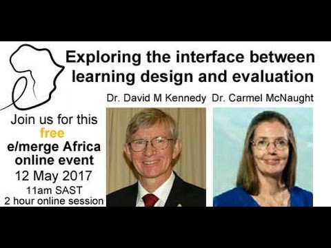 Exploring the interface between learning design and evaluation