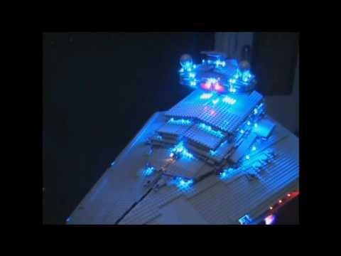 Imperial Star Destroyer Lego 10030 With Led Illumination