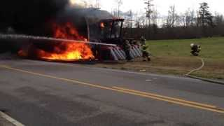 Vehicle Fire: Cotton Picker Fire