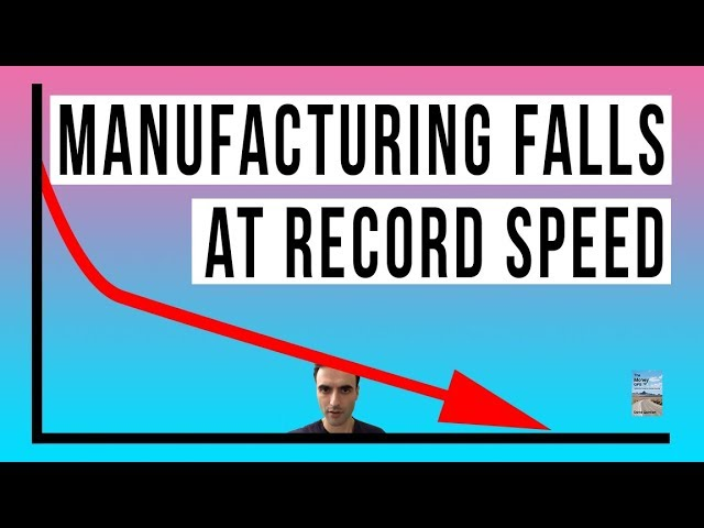 U.S. Manufacturing Index Turns Negative RECORD Decline! Economy Rapidly Slowing Down