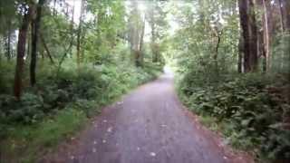 Cycling in Belleek Woods Ballina Co. Mayo
