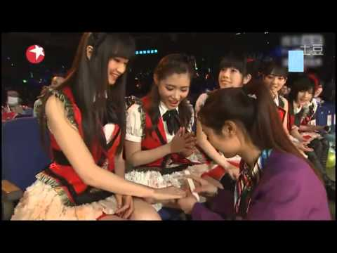 SNH48 performance and interview at the 21st Dong Fang Feng Yun 03.31.2014
