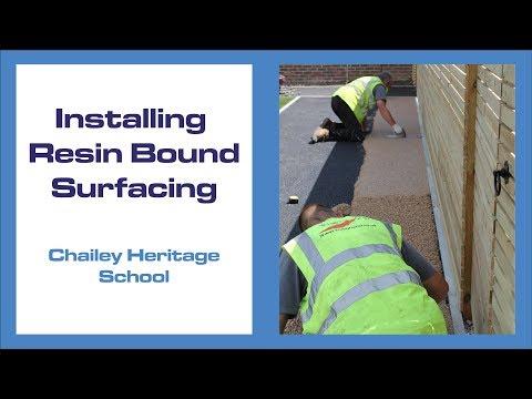 Installing Resin Bound At Chailey Heritage | Addagrip