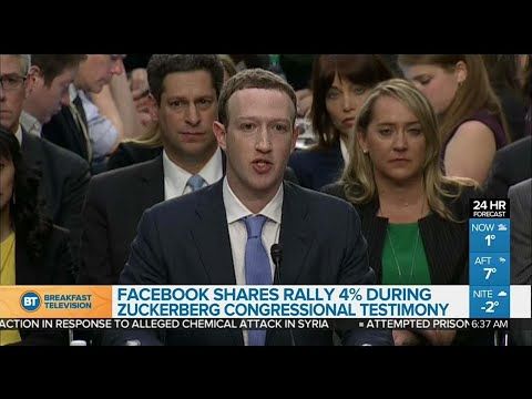 Facebook shares rally during Zuckerberg testimony