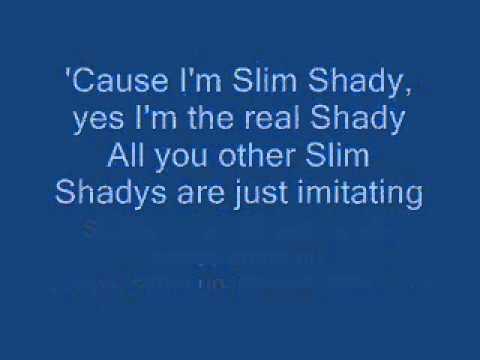 Eminem   The Real Slim Shady lyrics