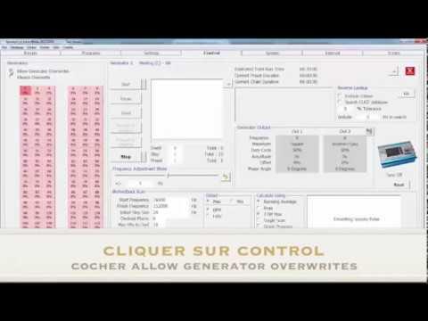 Instructions logiciel pour le mode contact - Spooky2