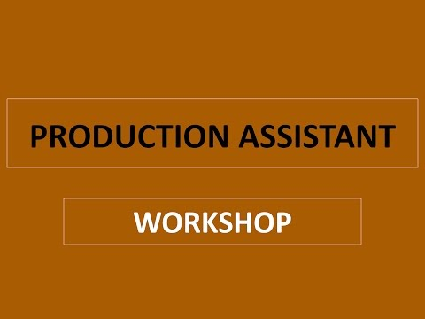 Production Assistant Workshop | Q&A w/ Instructor Tommy Burns