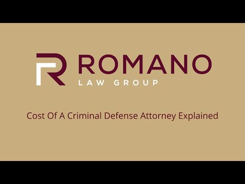 Cost Of A Criminal Defense Attorney Explained By Florida Lawyer Eric Romano