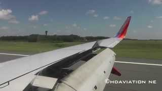 Southwest 737-700 Landing at Bradley International Airport KBDL