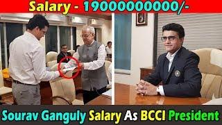 What is the salary of Sourav Ganguly as BCCI President । सौरव गांगुली बतौर बीसीसीआई प्रेजिडेंट कितना