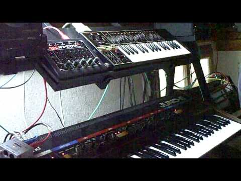 Yamaha CS-01 + Roland Juno-6 + MFB Step-64 + Roland TR-626