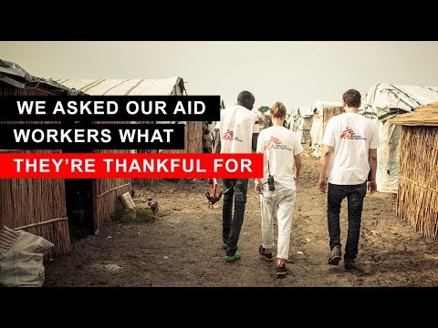 We Asked Our Aid Workers What They're Thankful For