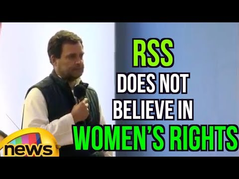 Rahul Gandhi's claims RSS does not believe in women's rights | Rahul in Meghalaya | Mango News