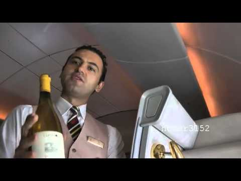 Emirates Airline First Class Private Suites Flight Amsterdam-Dubai (the movie) - YouTube.flv