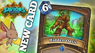 Hidden Oasis Card Reveal - MASSIVE QUEST SYNERGY | Firebat Hearthstone | Saviors of Uldum