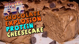 Chocolate Explosion Protein Cheesecake Recipe (healthy 'n Fit)