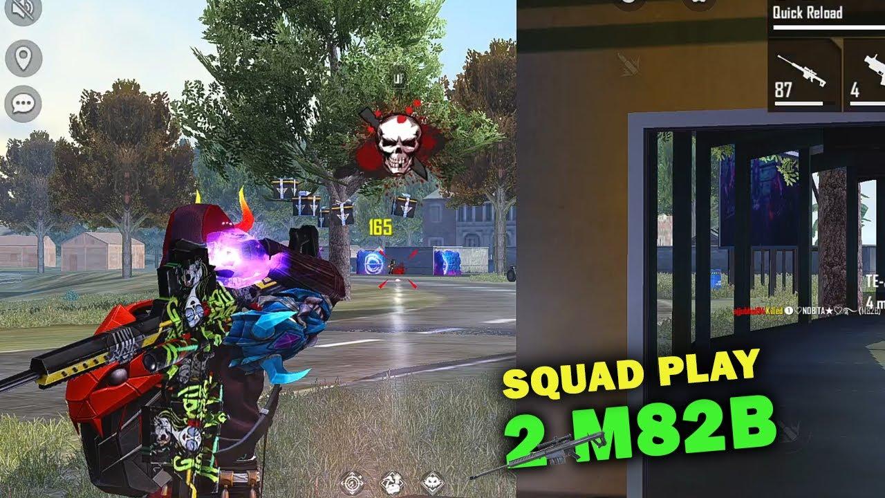 Ajjubhai 2 M82B OverPower Squad Gmeplay with Amitbhai, Jontybhai and Tg Mafia   Free Fire Highlights