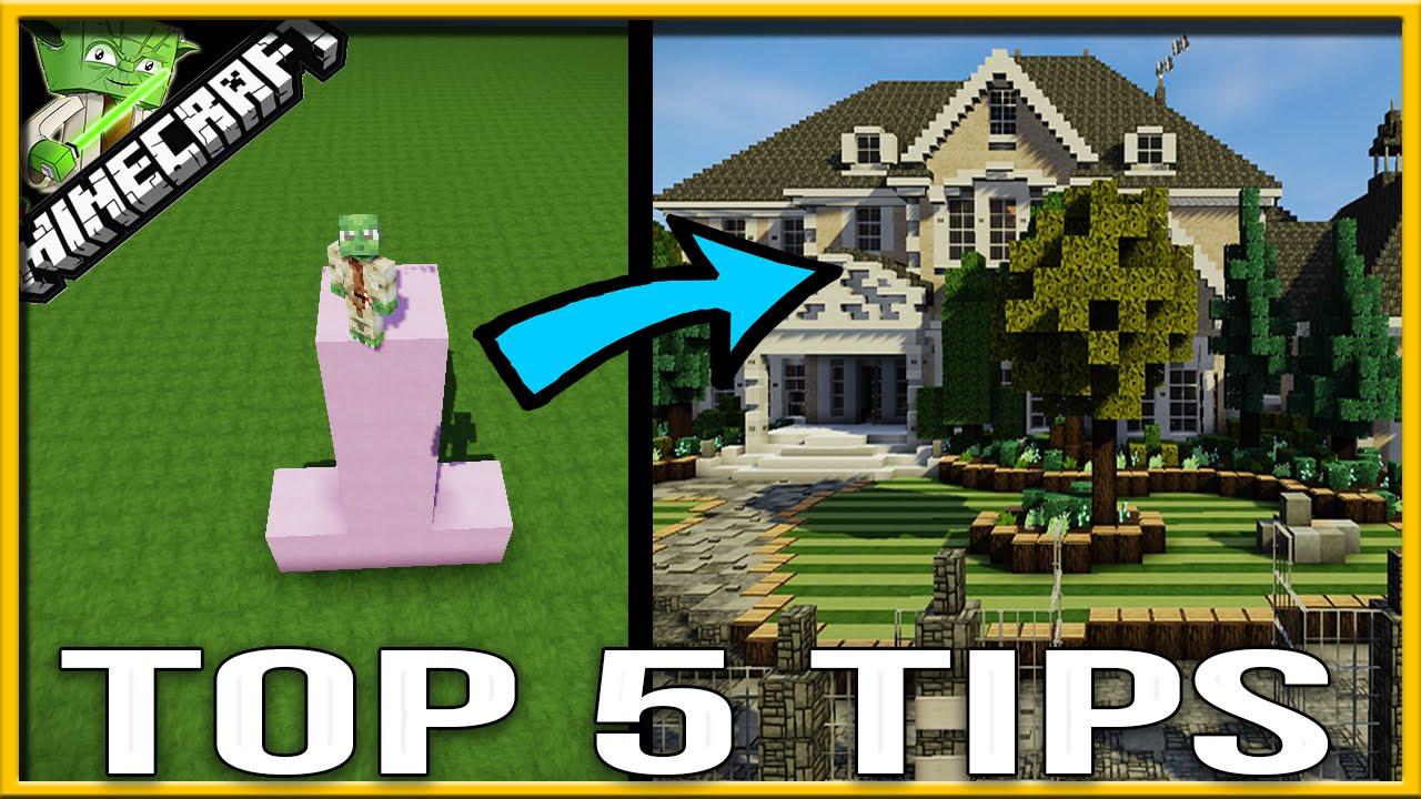 Minecraft Creative Tips Tricks: 5 Minecraft Mansion Tips