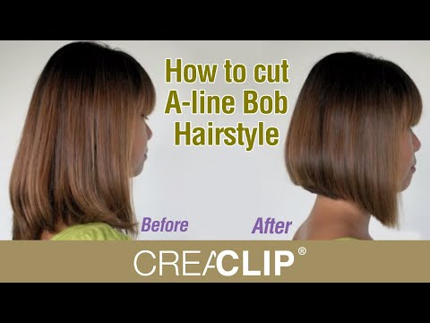 How to cut A-line Bob Hairstyle - Aline bob haircut! - YouTube