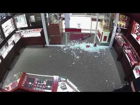 CCTV of Armed Robbery at an Jewelry Shop | Surveillance Video